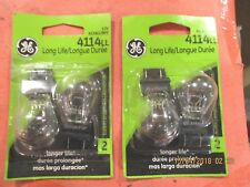 4114LL--GE--LOT OF 4--LONG LIFE-CLEAR Daytime Running Light Bulb Rear 4114LL/BP2