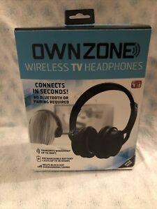 Sharper Image OWNZONE Black Wireless TV Headphones - As Seen On TV