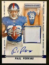 2016 Rookies & Stars #DFS-PP Paul Perkins Autograph Patch RC 6/10 Giants
