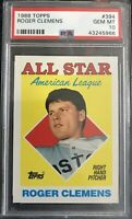 Roger Clemens 1988 Topps #394 American League All Star PSA GEM MT 10