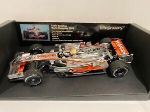 Minichamps 1:18 - Lewis Hamilton - 2008 Brazil Mclaren MP4-23 - World Champion