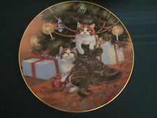 Country Christmas 1984 Collector Plate Lowell Davis Cats Tree Boot Rare Cat