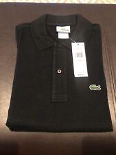 Men's LACOSTE Polo Shirt Size 2/XXS Black 100% Cotton
