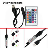 RGB USB Led Strip IR RF Remote Controller 24 Key 3528 5050 Lamp DC12V White hott