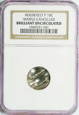 ROOSEVELT DIME 10c MINT CANCELLED ERROR COIN IN AN NGC HOLDER
