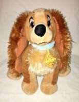 "Disney Store Lady and the Tramp Lady Plush Cocker Spaniel 9"" Tall Sitting"