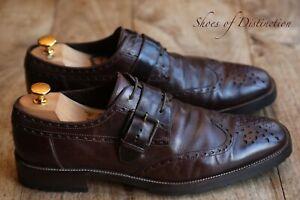 Men's Belstaff Brown Leather Monk Buckle Brogue Shoes UK 10  US 11  EU 44