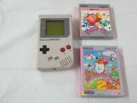 L767 Nintendo Gameboy Console Gray & game Japan GB Hoshi no Kirby