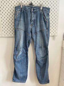 G-STAR Originals Raw Denim Men's Blue Jeans W36 Inch L31 Inch