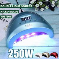 Profi UV 30 LED Nagellampe 250 Watt Nageltrockner Timer Sensor Gel Dryer