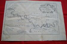 CARTE ANCIENNE COURS DE LA RIVIERE GAMBIE AFRIQUE BELLIN 1747 OLD MAP