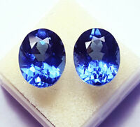 Natural Tanzanite Loose Gemstone 8 to 10 Cts Pair Certified Oval Shape