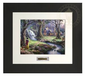 Thomas Kinkade Snow White 11 x 14 Modern Home Collection (Espresso Frame)