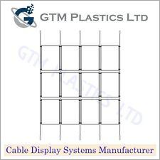 Cable Window Estate Agent Display - 4x3 A4 Portrait - Suspended Wire Systems