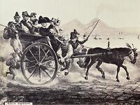 charette Naples Albumine circa 1880 GALESSO NAPOLITANO ITALIE