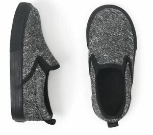 Crazy 8 Black Slip On Shoes Little Boys Size 6 NEW