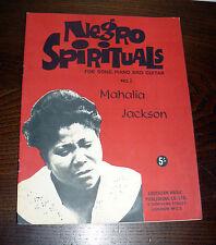 SPARTITO RACCOLTA NEGRO SPIRITUALS FOR SONG CANTO E PIANO GUITAR MAHALIA JACKSON