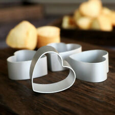 Aluminum Metal Love Heart Cake Biscuit Cookie Cutter Decor DIY Baking Mould SS