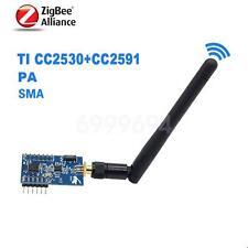ZigBee PA Module CC2530 + CC2591 ZigBee to TTL Uart Wireless 1000m with Antena