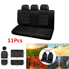 11Pcs PU Leather Car Seat Covers Front+Rear Seat Protector Cushion Universal
