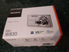 Sony Cyber-shot DSC-W830 20.1MP Digital Camera 8x Optical Zoom Silver