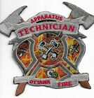 "*NEW* Ottawa Fire Dept. Apparatus Technician, Canada (4.5"" x 4"" size) fire patch"
