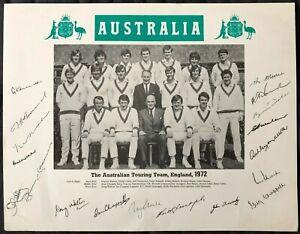 Australia Cricket 1972 Tour Signed x18 Ian Greg Chappell Marsh Massie Walters