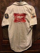 MILLER BREWING Milwaukee ~MED ~ HIGH LIFE LITE BEER VINTAGE Delivery Work Shirt