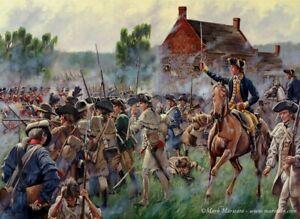 Mark Maritato Signed Revolutionary War Art Print The Battle of Brooklyn 17x13