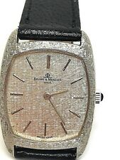 Baume & Mercier Geneve Mechanical 18K. White Gold Men Watch 80's
