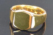 ASOS DESIGN Pinky Ring Siegelring schlicht14 K vergoldet S/M (53) Neu; K66 465