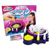 Grafix Nail Art Swirl Kit With Machine Glitter & Paint Girls Gift Idea 16-6158