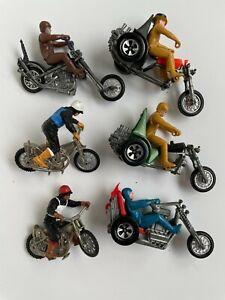 Lot of Rrrumblers Mattel Hot Wheels- Estate Find.  6 Motorcycles Choppers Riders