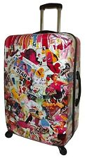 "NEW VISIONAIR JANE ELISSA PINK FANTASY 30"" POLYCARBONATE 4 WHEEL SPINNER LUGGAGE"