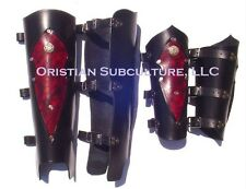 Leather Warrior Bracers and Greaves Arm Leg Armor combo SCA LARP medieval armour