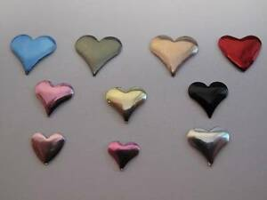 1 x Pack of Heart Embellishments Toppers Gold Silver Cardmaking & Scrapbooking