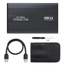 USB 3.0 SATA Externes 2.5 Zoll Schwarz Festplattengehäuse Gehäuse Caddy