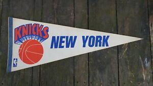 "Vintage 1970's Sports NBA Basketball New York Knicks Souvenir Pennant 30"""