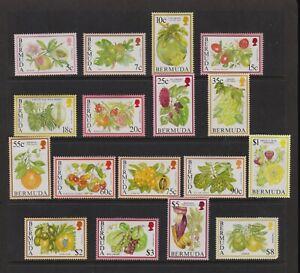 Bermuda - 1994 Flowering Fruit set, mint, FACE value $ 23.15