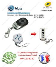 Télécommande compatible BLYSS 582858, BLYSS CASTRO pour Portail, Garage