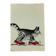 B.Kliban Vintage Catcards Cat Cards Red Tennis Shoes Walking Feline Lot of 9