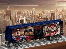LIONEL 6-83780 BATMAN v SUPERMAN MAN OF STEEL BOXCAR O GAUGE
