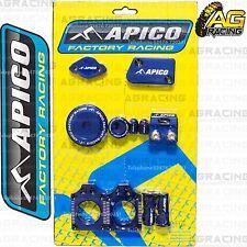 Apico Bling Pack Blue bloques Tapas Tapones abrazadera Funda Para Yamaha Yzf 450 2010-2013