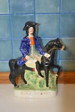 More details for antique victorian staffordshire flat back dick turpin figurine
