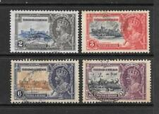 1935 King George V SG239 to SG242 Silver Jubilee Set Used TRINIDAD & TOBAGO