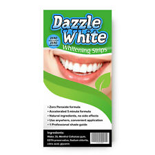 TEETH WHITENING STRIPS ADVANCED  HOME PROFESSIONAL TOOTH BLEACHING DAZZLE WHITE