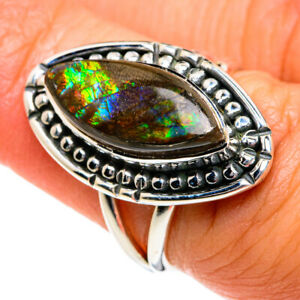 Ammolite 925 Sterling Silver Ring Size 6.5 Ana Co Jewelry R78982F