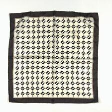 "Vintage Gucci Silk Scarf Monogram Logo 26""x26"""