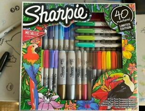 Sharpie Brand Set of 40 Markers Limited Edition Includes 4 Metallic Art Pens