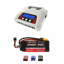 Venom 20C 2S 2000mAh 7.4V LiPo Battery and 2-4 Cell Balance Charger Combo